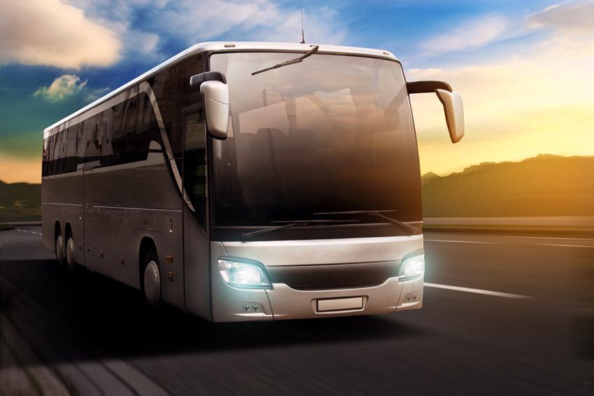 Bus at Sunset