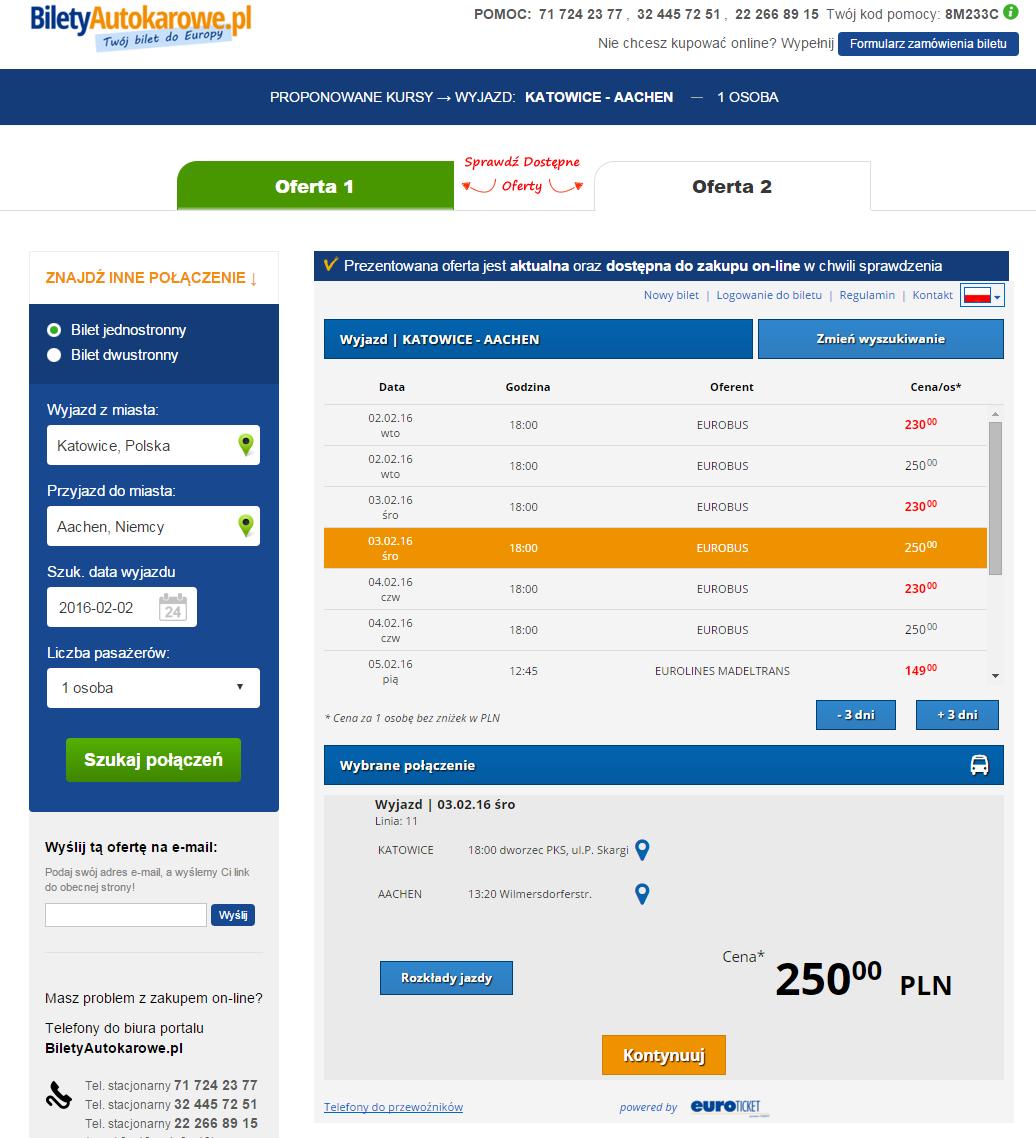 EuroTicket zakup biletu autokarowego